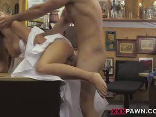 Sexy with round ass inside a wedding dress