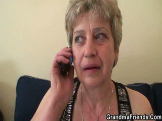 Gemeen grandmother gets koppel pork daggers