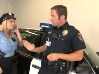 Cock hungry cop Rachel Love is pricked on her patrol car up her wet snatch