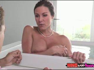 Stepson sneaked on her big boobs stepmom