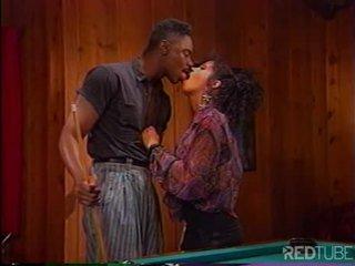 Ebony couple prefers fucking to billiards