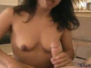 Hard core brunette bitch a messy cock sucker