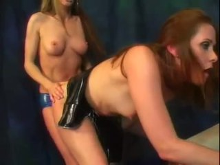 lezbijka, online lateks, strapon