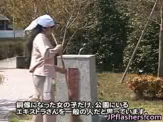 Šialené japonské bronze statue moves