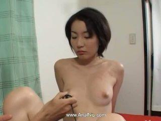 briunetė, japonijos, analinis