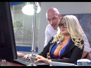 クソ とともに thick ブロンド 秘書, フリー ポルノの 41