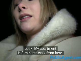 PublicAgent Beautiful Blonde fucks big cock in hotel room