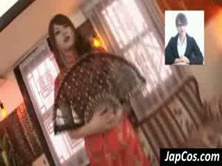 Vājas aziāti geisha gets teased