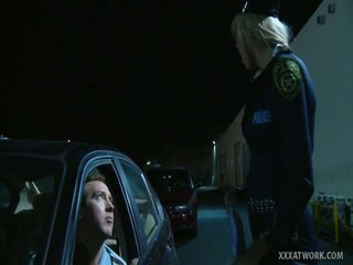 Sexy Blonde Cop Fucks Traffic Violator
