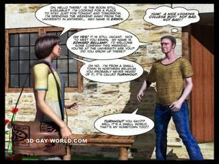 ROOM FOR RENT 3D Gay Animated Cartoon Comics