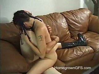 Punk Rock Paige Gets Pumped On The Couch