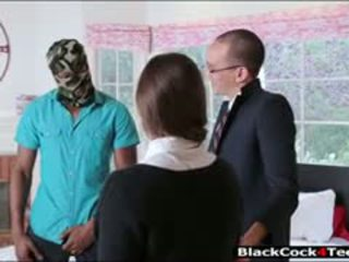 brunette, pijpbeurt, interraciale u