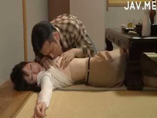 japonais, éjaculation, cul