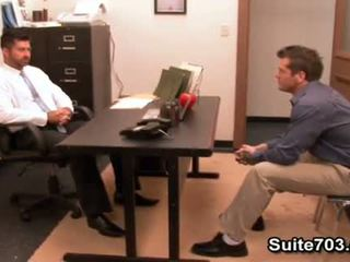 Hot gays Berke and Parker fuck in the office