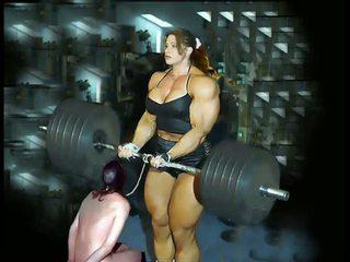 Female เล่นกล้าม fbb bodybuilder ผู้หญิงไซส์ใหญ่ ผู้หญิงนำ
