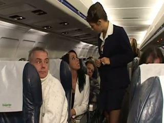 ยาก เพศ ด้วย มาก ร้อน stewardesses