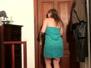 brunette, webcam, da