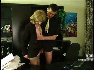 crossdresser, 辦公室, 肛門