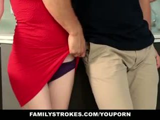 Familystrokes - vaihe sister sucks ja fucks veli aikana thanksgiving dinner
