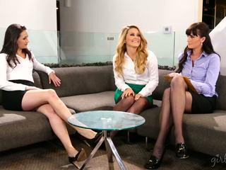 lesbian, babes, threesome