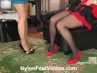 Ninon και agatha άτακτος/η ζαρτιέρες πόδια ταινία δράση