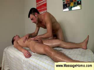 Homo uses his stiff kontol as a pijet toy