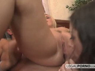 3 sexy girls playing with toys and enjoying two big dicks TS-1-02