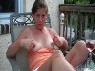 Milf amateur flashing tits hairy pussy panties