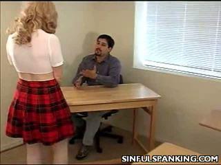 School Hotty Butt Spanked