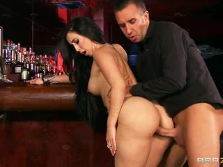 Bar fuck with big breasted valerie kay