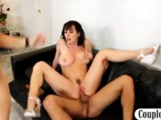 Gorgeous Blonde Teen Helps A Hot MILF With Big Boobs To