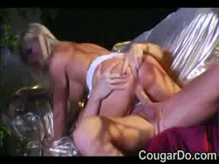 Blond prostitute with hot Boobs takes a dong up the butt