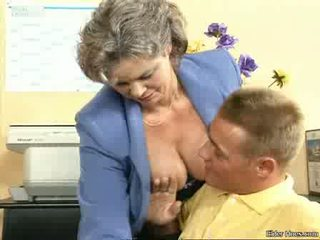 Grandma fucking with a young boy Video