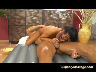 masseuse, massage, oiled