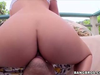 Big booty hottie Abby Cross pussy ripped