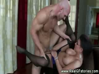 Cougar gets a juicy cumshot