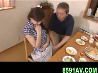 japonés, hombre, mordaza