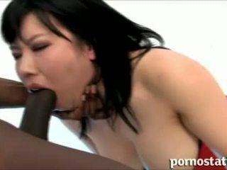 deepthroat, büyük dick, japon