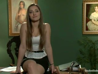 Superb dani daniels has constrained ขึ้น และ banged onto a ตาราง