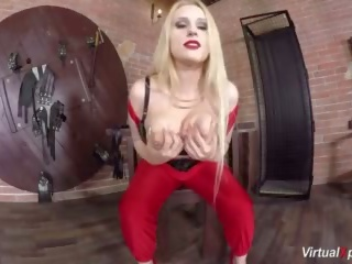 grote tieten, masturbatie, blond
