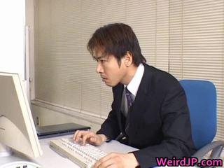 可愛 亞洲人 秘書 鑽