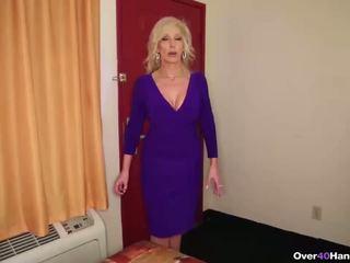 Horny step-mom POV handjob
