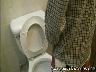 나의 명랑한 아시아의 urinate 과 정액