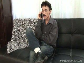 si rambut coklat, seks tegar, meniup pekerjaan