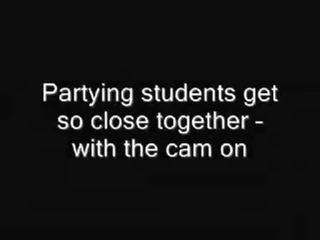 Blanda av klipp från studenten kön parties