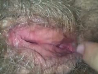 Licking لها أشعر, رطب, جدة كس
