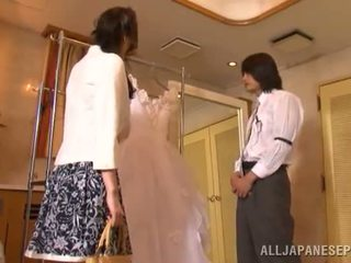 Yui Tatsumi The Erotic Bride Gives A Thang Dick Suck To Her Fiance