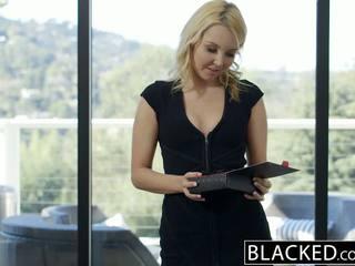 Blacked ganska blondin hotwife aaliyah kärlek och henne svart lover