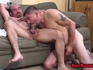 Gyzykly and saçly barebacking iki adam