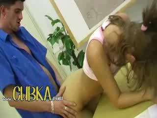 Lovely blondie kvinne getting nailed